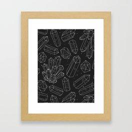 Black Crystals Framed Art Print