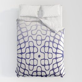 Blue Cymatics Pattern Comforters