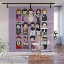 Kokeshis Women in the History Wall Mural