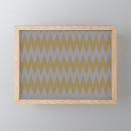 Gray Brown Zigzag Horizontal Stripe Pattern 2021 Color of the Year Ultimate Gray & Accent Shade Framed Mini Art Print