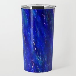 Color gradient and texture 31 dark blue Travel Mug