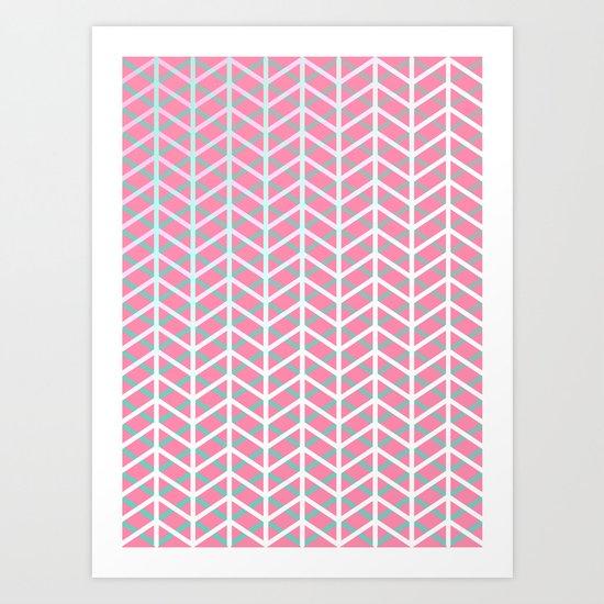 Overlap #5 reverse Art Print