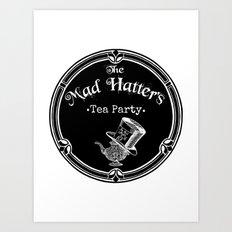 Alice In Wonderland Mad Hatter Tea Party Art Print