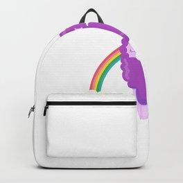 "Cute Unicorn Llama print - ""Unicorn? No Probllama"" Backpack"