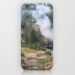 Dragon's Mouth Spring, Yellowstone iPhone Case
