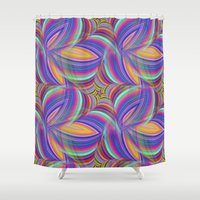 psychedelic Shower Curtains featuring Psychedelic by David Zydd