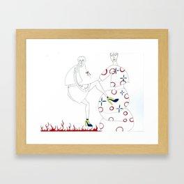 I Will Kick You Framed Art Print