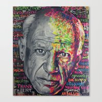 picasso Canvas Prints featuring Picasso by Makelismos