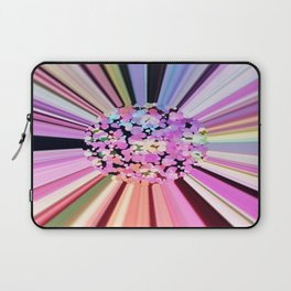 Colorful Confetti Striations Laptop Sleeve