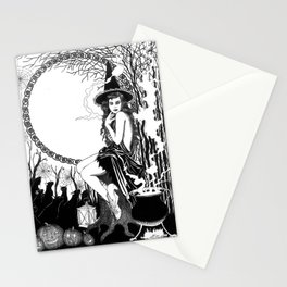 Halloween Witch Stationery Cards
