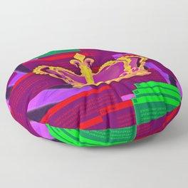 Crown Glitch Floor Pillow
