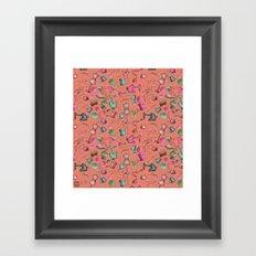 Sewing tools - rosados Framed Art Print