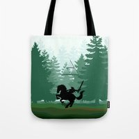 the legend of zelda Tote Bags featuring Legend Of Zelda by Kesen