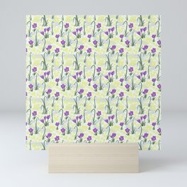 Snowdrops, Crocuses, and Winter Jasmine - Winter Flowers Mini Art Print