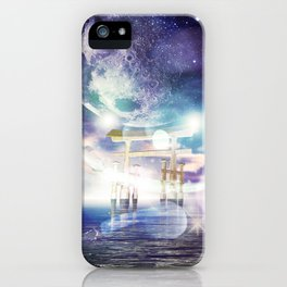 Ocean at night iPhone Case