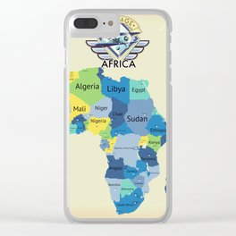 Map Of Africa Clear iPhone Case