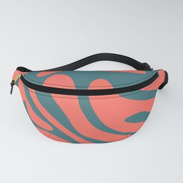 Living Coral in the Deep Sea - Pantone Color Trend 2019 Fanny Pack