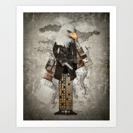Secret Agent Eagle One Art Print