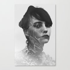 Lady Leaves Canvas Print