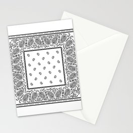 Classic White Bandana Stationery Cards