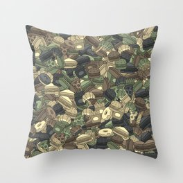 Fast food camouflage Throw Pillow