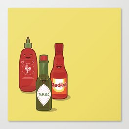The Hot Sauces Canvas Print
