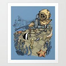 Deep Sea Chessmaster  Art Print