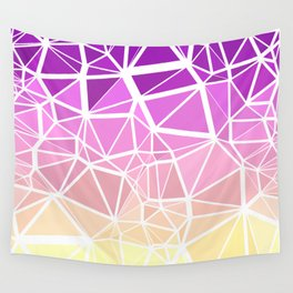 Colorful Boho Low Poly Gradient 6 Wall Tapestry