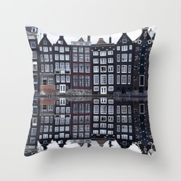 Amsterdam houses 1. Throw Pillow