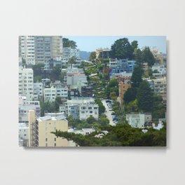 Lombard Street, San Francisco Metal Print