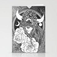 taurus Stationery Cards featuring Taurus by Jadranka Lacković / ojoMAGico