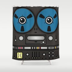 reel tape recorder Shower Curtain