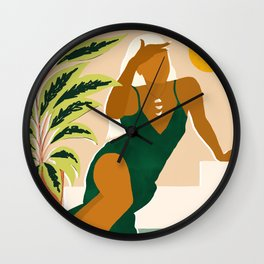 The Wait Is Long But My Dream Of You Does Not End #illustration Wall Clock