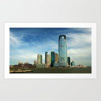 new jersey Art Prints featuring New Jersey by Raymond Earley
