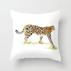 Flower Pattern Cheetah Throw Pillow