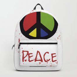 peace symbol Backpack