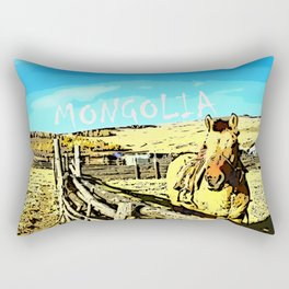 Mongolia Horse Treks (at Mountain Rubia) Rectangular Pillow