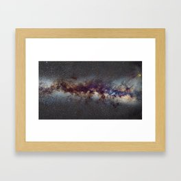 The Milky Way: from Scorpio, Antares and Sagitarius to Scutum and Cygnus Framed Art Print