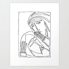 Pieta - Mary Holding Jesus Art Print