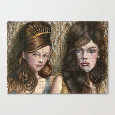 Wallpaper and Dresses Canvas Print