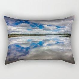 Clouds Reflected Rectangular Pillow