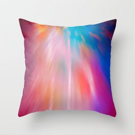 Abstract motion blur background. Throw Pillow