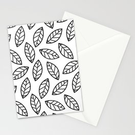 Leaves - white Stationery Cards