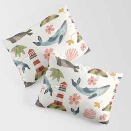 Lighthouses, Seals, and Whales Pillow Sham