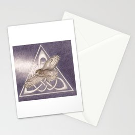 Nuit, the great-horned owl on white Stationery Cards
