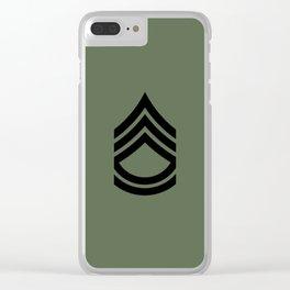 Sergeant First Class (Green) Clear iPhone Case