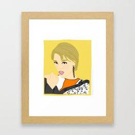 Knock Knock! Jungyeon Yellow Framed Art Print
