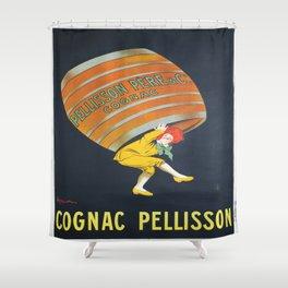 Vintage poster - Cognac Pellisson Shower Curtain