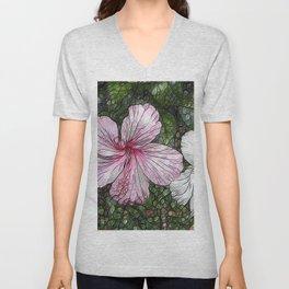 Fabulous hibiscus Unisex V-Neck