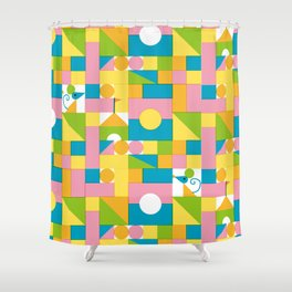 Building block Shower Curtain